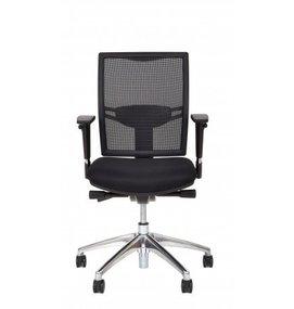 Multi Meubel Huislijn Bureaustoel MILAAN, rug in mesh zwart - Bureaustoelen voor werkplekken