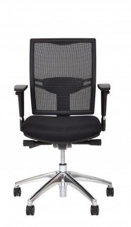 Multi Meubel Huislijn Bureaustoel MILAAN, rug in mesh zwart