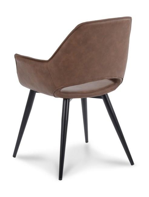Multi Meubel Vergader- bezoekersstoel Mandy, voorzien van zwart vierpootsframe.