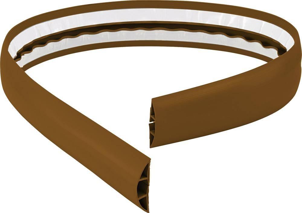Multi Meubel Vloergoot zelfklevend flexibel GROOT 183 cm x 10,16 cm  BRUIN