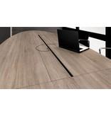 HUISLIJN OVALE Vergadertafel model PARIS Afm. 420x138 cm