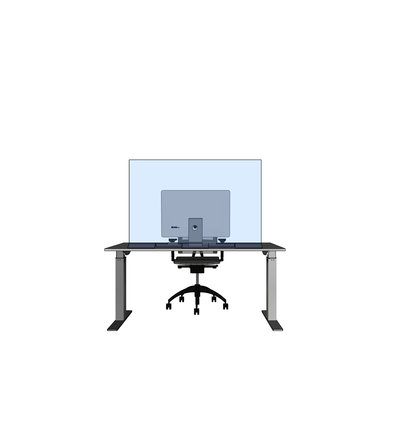 Multi Meubel Transparant Corona Bureauscherm op voet - Werkplekorganisatie