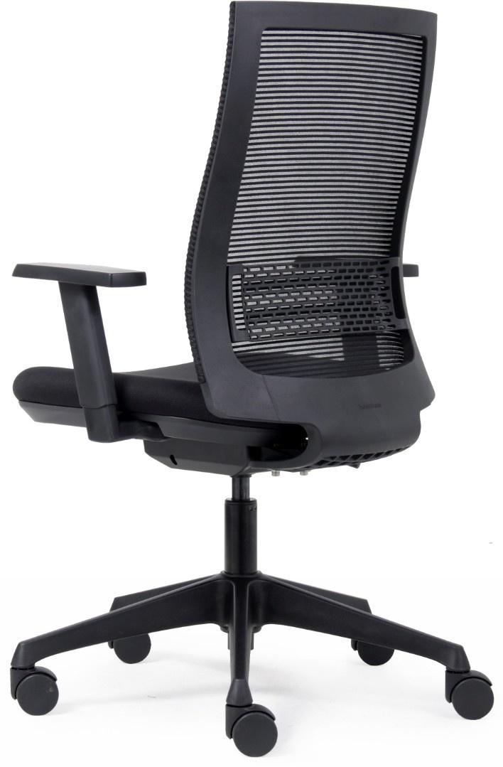 Euro Seats Canillo thuiswerk bureaustoel zitting gestoffeerd, voorzien van NETrug