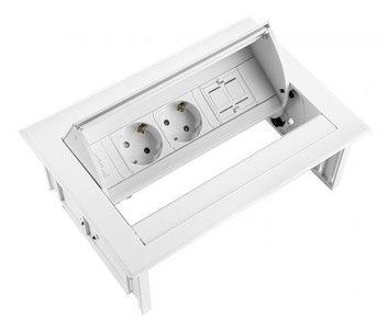 Multi Meubel Power Desk In Huislijn 2x stroom + 2x USB charger