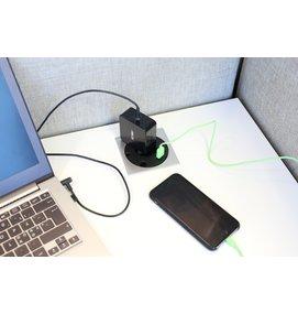 Götessons Power Grommet VIERKANT stopcontact + 1x USB Charger - Inbouw stekkerdozen
