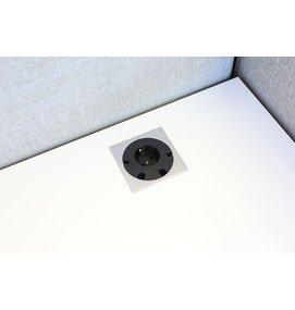 Götessons Power Grommet VIERKANT 1x stopcontact - Inbouw stekkerdozen