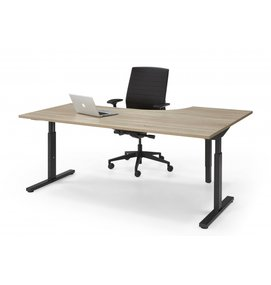 HUISLIJN QUICK  Hoek bureautafel thuiswerkplek 160/80x120/60 cm - Thuis Werkplek