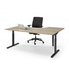 HUISLIJN QUICK  Hoek bureautafel thuiswerkplek 160/80x120/60 cm - QUICK bureau