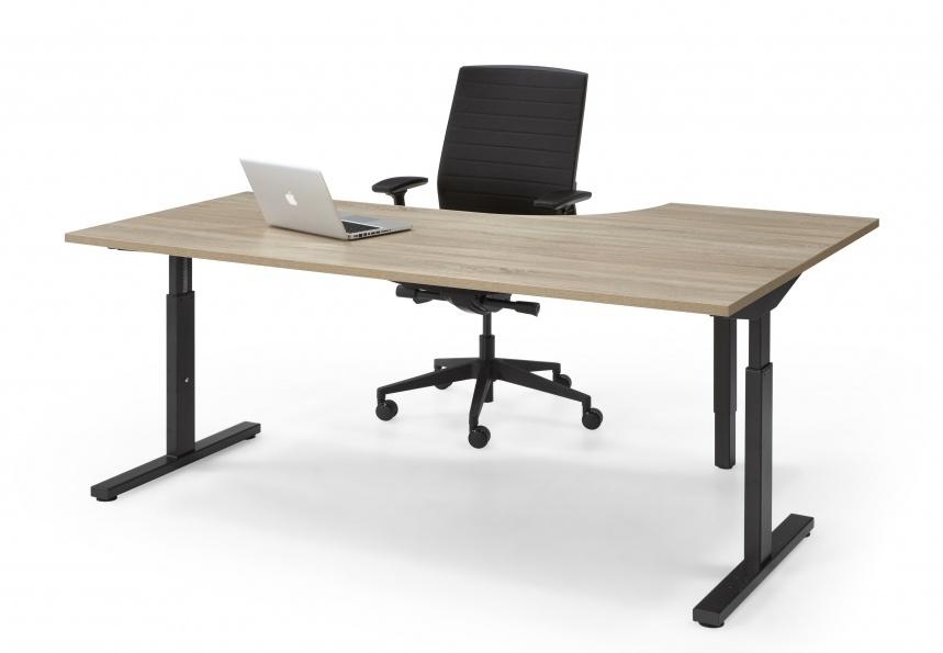 HUISLIJN QUICK  Hoek bureautafel thuiswerkplek 160/80x120/60 cm