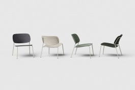 De Vorm HALE Lounge Chair zonder armleggers