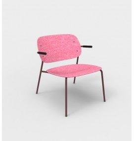 De Vorm De Vorm, HALE Lounge Chair met armleggers, gemaakt van gerecyclede PET-flessen - Loungestoelen
