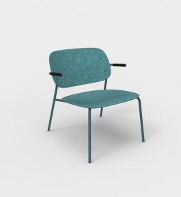 De Vorm HALE Lounge Chair met armleggers