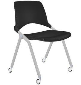 FP S148 - Kunststof opklapbare stoel met wielen - Schoolstoelen
