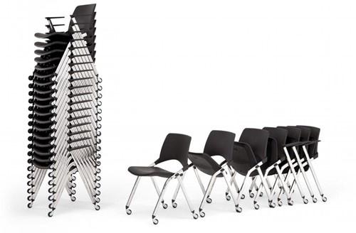 FP S148 - Kunststof opklapbare stoel met wielen