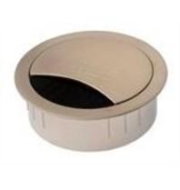 Multi Meubel Kabeldoorvoer RVS Kabeldoorvoer ROND 80 mm 2 deliig in RVS met een borstelafsluiting. De kabeldoorvoer kan in het bureaublad gemaakt worden. Boormaat rond 80mm