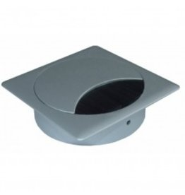 Multi Meubel Kabeldoorvoer metaal vierkant RAL 9006 Aluminium