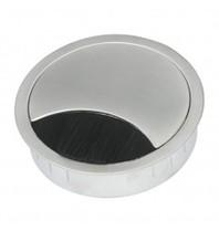 Multi Meubel Kabeldoorvoer Metaal rond 60 RAL9006 Aluminium - Metalen kabeldoorvoer