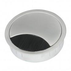 Multi Meubel Kabeldoorvoer Metaal rond 60 RAL9006 Aluminium