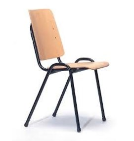 Multi Meubel Zaal- Kerkstoel Time Out Blank Beuken - Houten stoelen