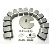 Multi Meubel Kabelslang Ovaal H75 ALUMINIUM