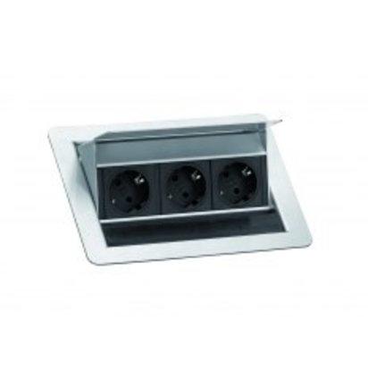 Inbouw Powerbox Flip Top 3P - Inbouw stekkerdozen