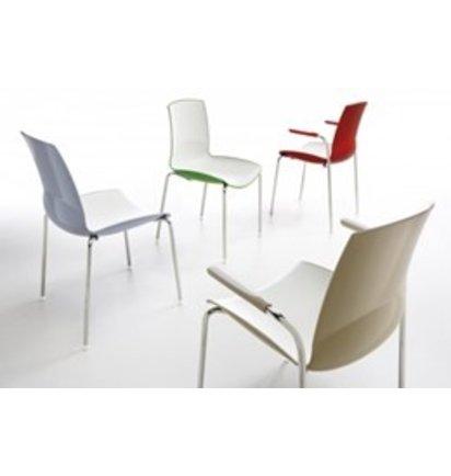 Infiniti NOW zonder armleggers - Kunststof stoelen