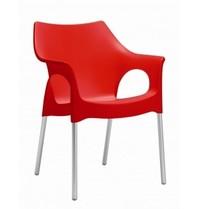 Multi Meubel DOOLLI/ OLA stoel (rood) - Kunststof stoelen