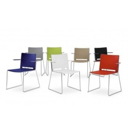 Multi Meubel Kerkstoel QLIQ MET Armleggers - Kunststof stoelen
