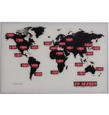 Multi Meubel Klok World Time 55 x 36 cm 480005.055036000.000