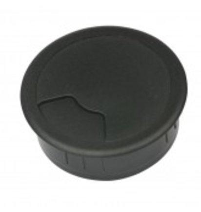 Multi Meubel Kabeldoorvoer 3 delig Ø 80 mm zwart 423001.080.000 Bureau kabeldoorvoer Ø 80 mm zwart - Kunststof kabeldoorvoerdoppen