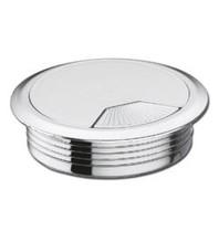 Multi Meubel Kabeldoorvoer dop Kunststof GLANS CHROOM kleur Rond 60 - Kunststof kabeldoorvoer