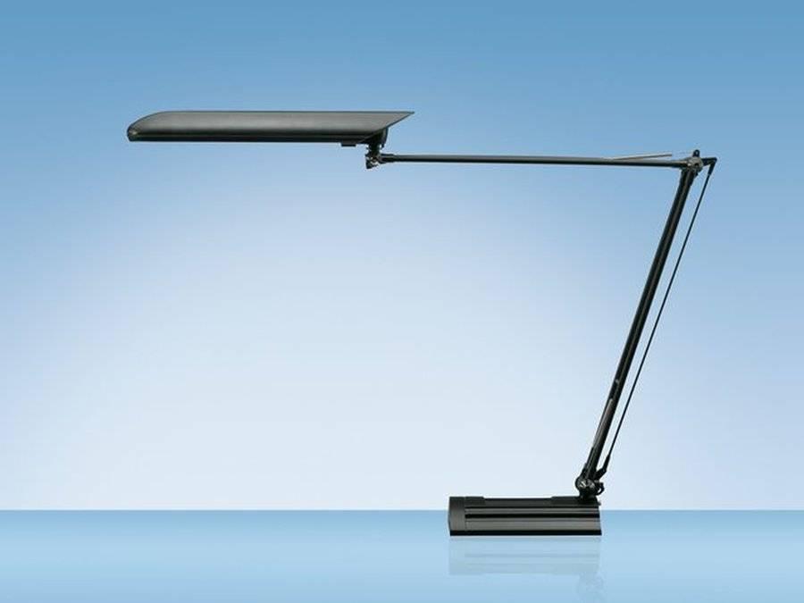 Bureaulamp Hansa met spaarlamp Ecolux zwart