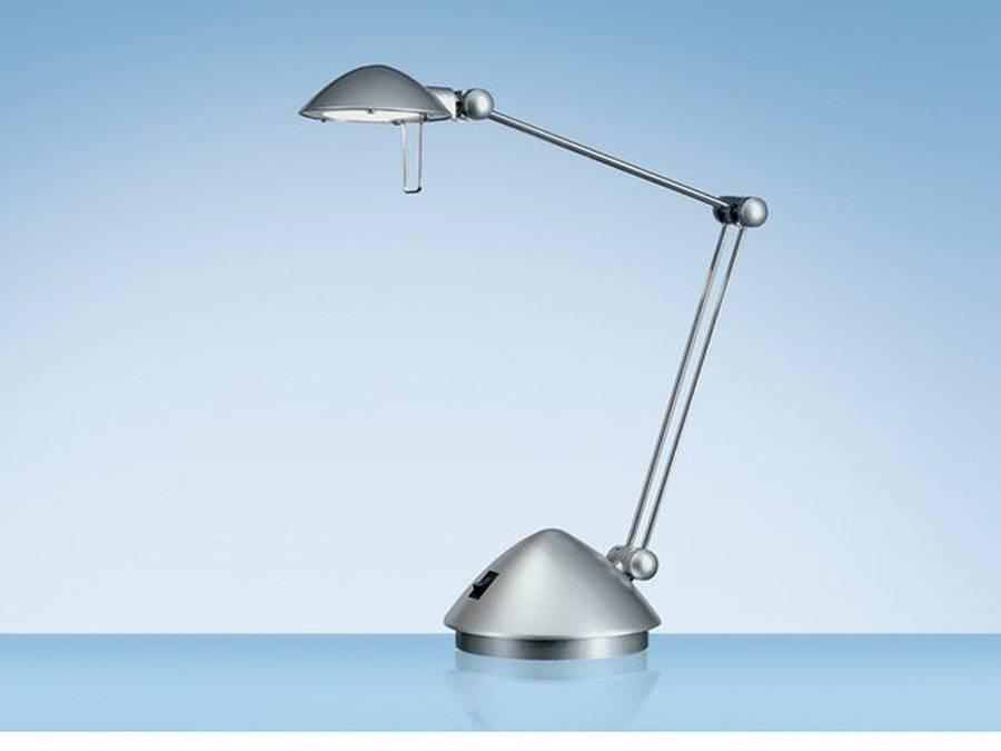 Bureaulamp Hansa halogeen Madrid zilver