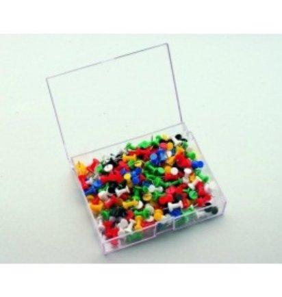 HUISLIJN Push pin 200 stuks assorti 7-145299 - Whiteborden en Prikborden