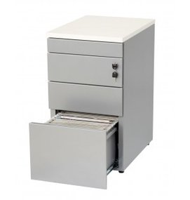 HUISLIJN Ladenblok bureauhoogte 3 laden en topblad - Ladeblokken