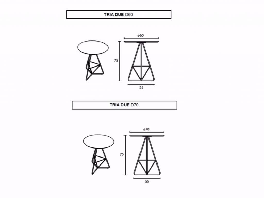 Multi Meubel DESIGN TAFELTJE TRIA DUE