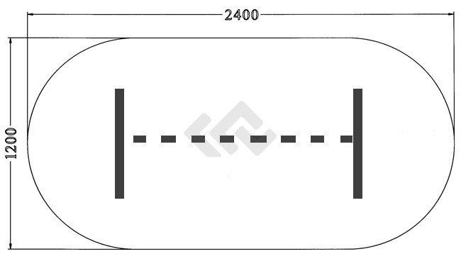 HUISLIJN Vergadertafel LOOK afmeting 240x120 cm OVAAL