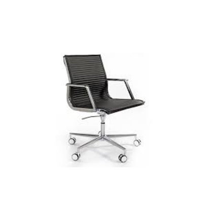 LUXY LOW NULITE RIBBED BUREAUSTOEL 26040 Design Luxy R&D - Directiestoelen