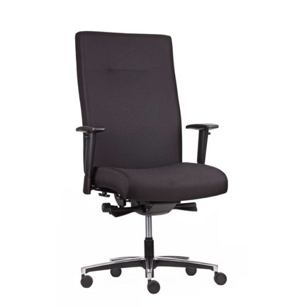 HUISLIJN Manager Bureaustoel BOSTON. Hoge rug Brekleding Oasis ZWART - Bureaustoelen voor werkplekken