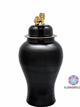 Eichholtz Black vase Golden Lion