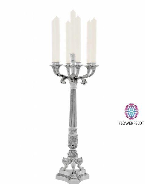 Eichholtz Silver candle holder Jefferson - H79 cm