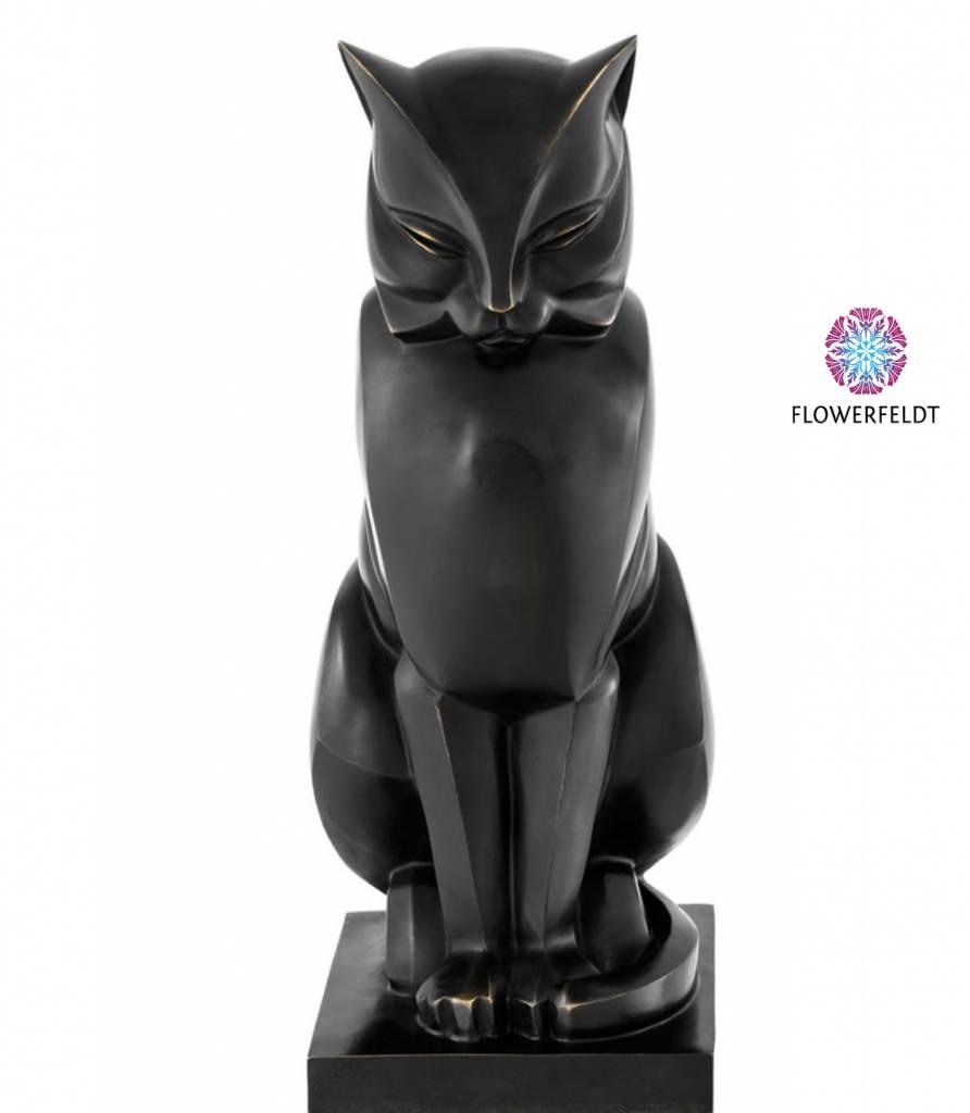 Eichholtz Bronze cat - H46 cm