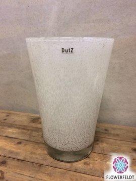 DutZ Vaas conic bubbels wit