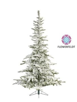 Goodwill Kerstboom green with flocks 225 cm