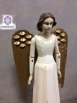 Engelen beelden wit