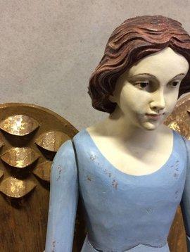 Large angel figurine blue