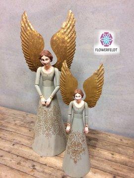 Houten engel met gouden vleugels