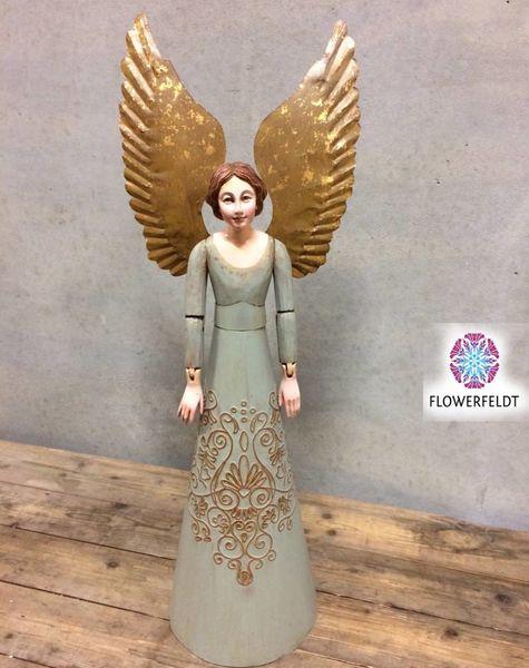 Angel figure green - H64,5 cm