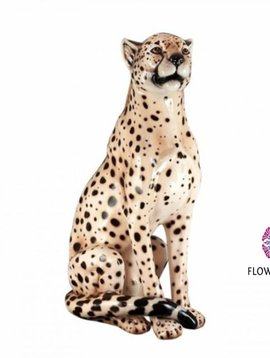 Pot en Vaas Cheetah figurine