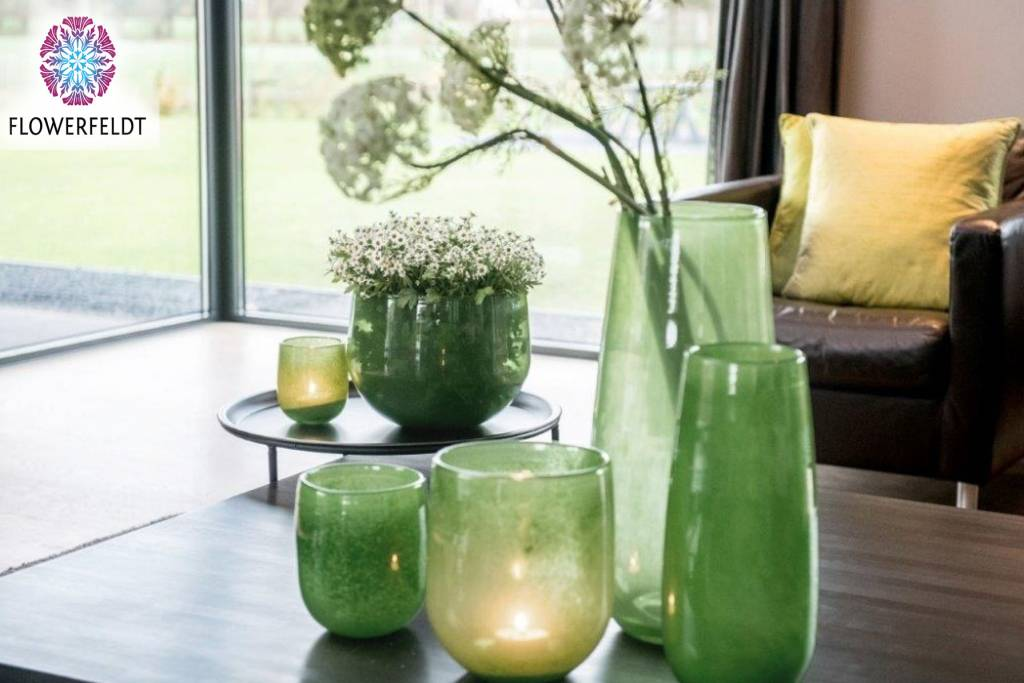 DutZ Vase Robert jungle green - H37,5 / H50 cm